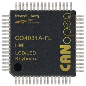 frenzel + berg CANopen HMI Controller Chip CO4031 for displays, keyboards and HMI applications
